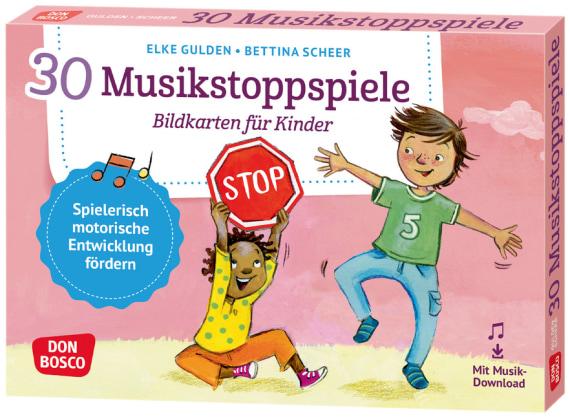 30 Musikstoppspiele. Bildkarten für Kinder