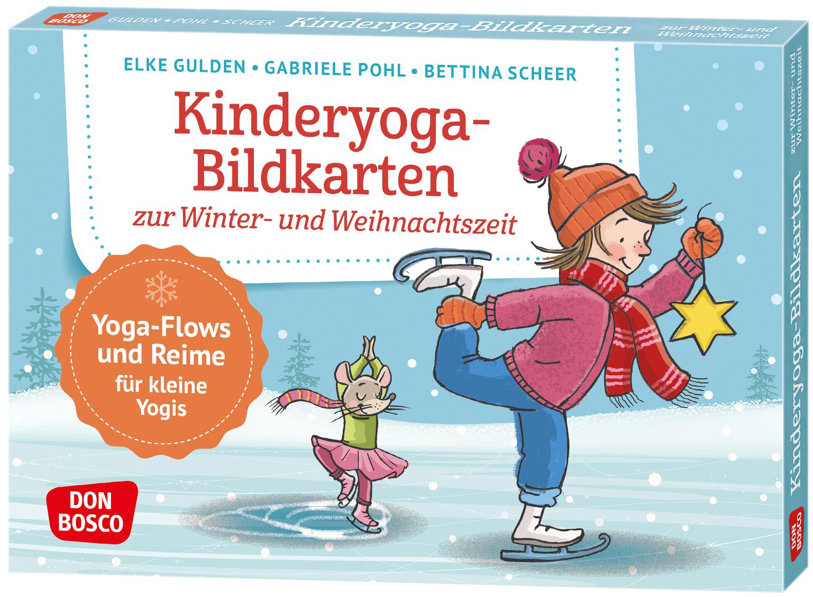 Kinderyoga-Bildkarten zur Winter- und Weihnachtszeit
