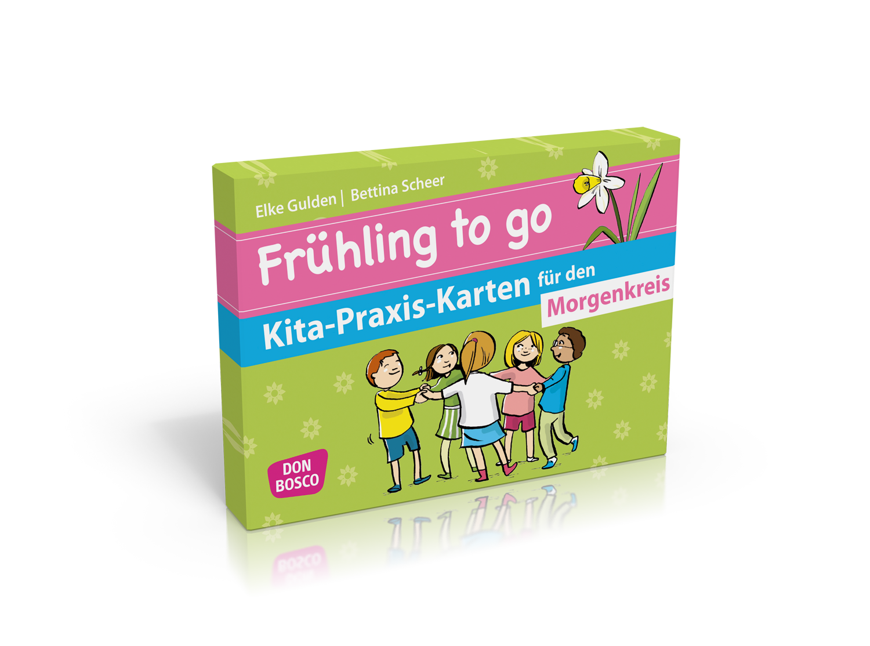 Frühling to go Kita-Praxis-Karten für den Morgenkreis