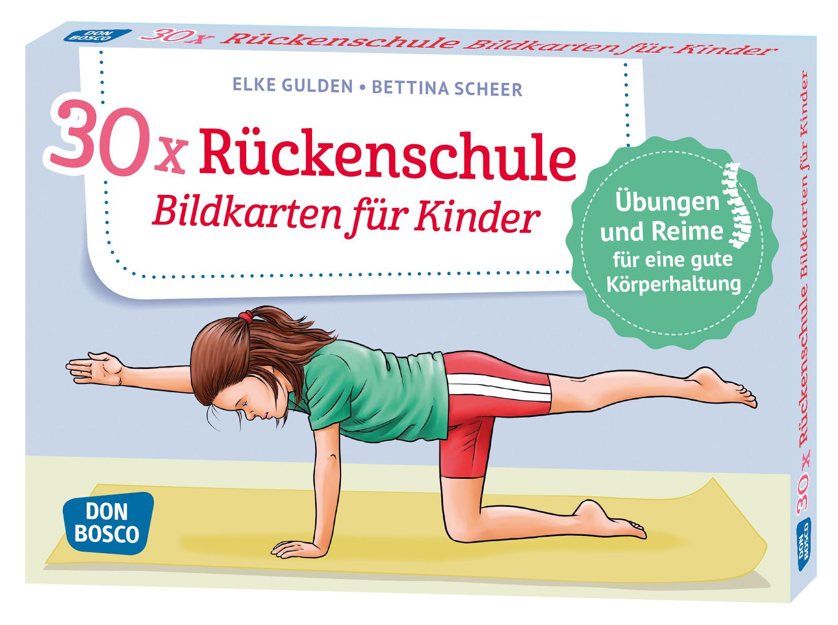 30 x Rückenschule - Bildkarten für Kinder