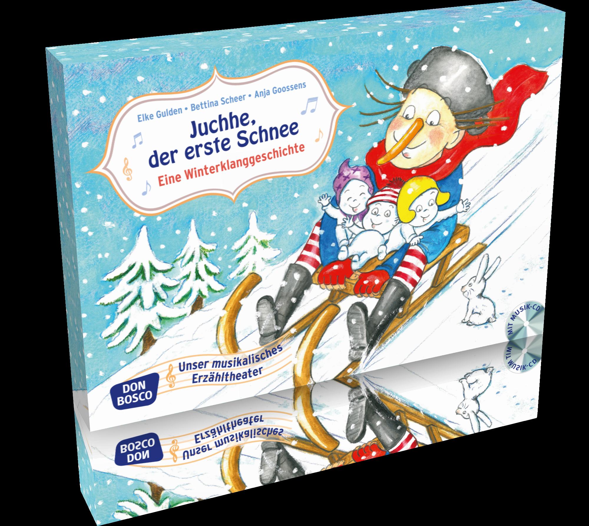 Juchhe, der erste Schnee -  Eine Winterklanggeschichte mit Audio-CD