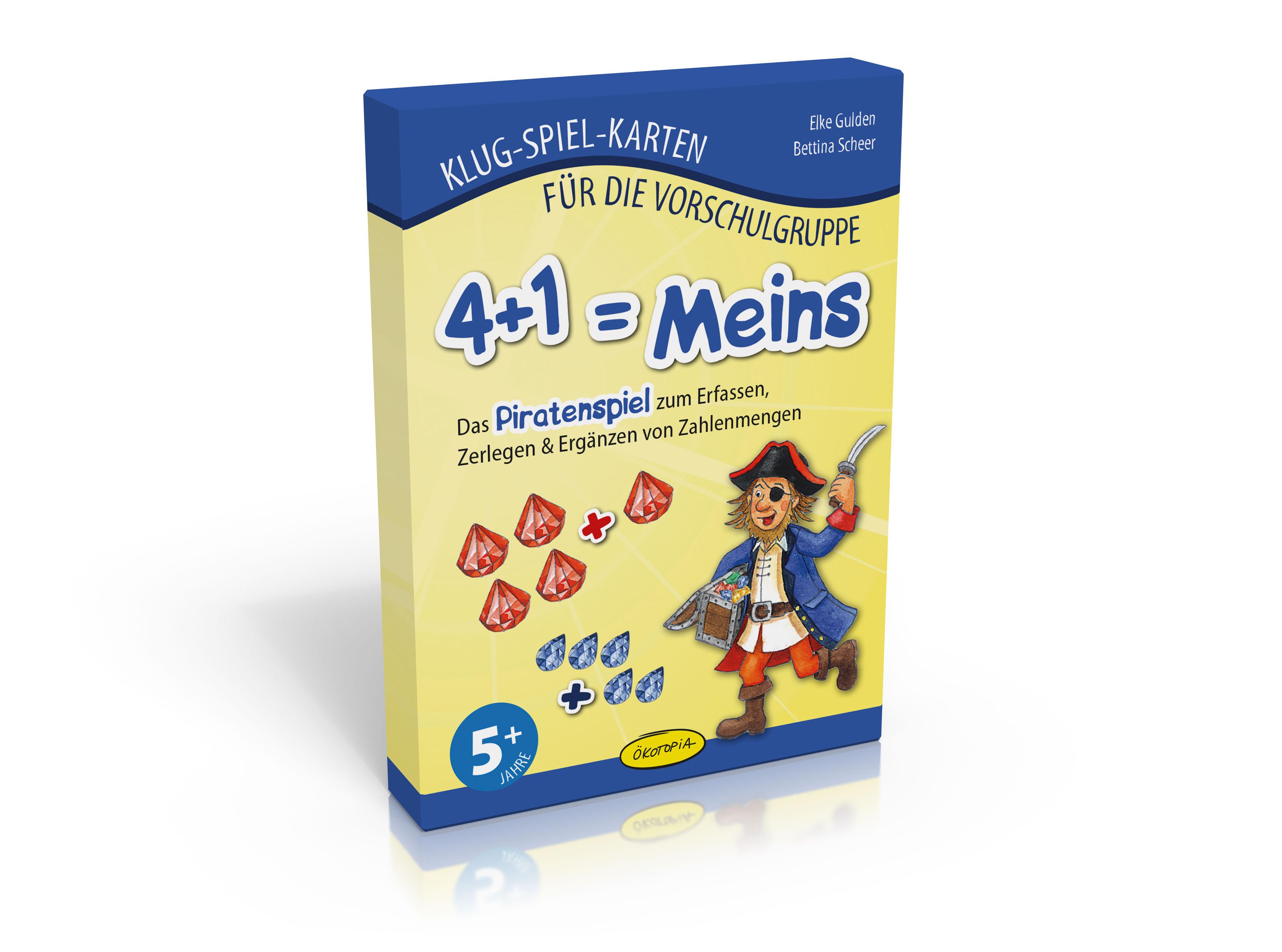 4+1 = Meins (Klug-Spiel-Karten)
